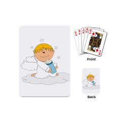 Angel Baby Bottle Cute Sweet Playing Cards (mini)  by Nexatart