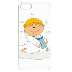 Angel Baby Bottle Cute Sweet Apple Iphone 5 Hardshell Case With Stand by Nexatart