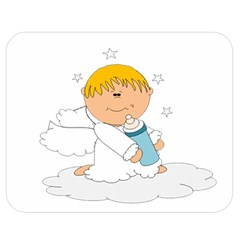 Angel Baby Bottle Cute Sweet Double Sided Flano Blanket (medium)  by Nexatart