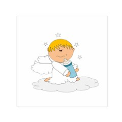 Angel Baby Bottle Cute Sweet Small Satin Scarf (square) by Nexatart