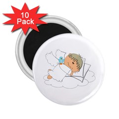 Sweet Dreams Angel Baby Cartoon 2 25  Magnets (10 Pack)  by Nexatart