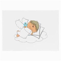 Sweet Dreams Angel Baby Cartoon Large Glasses Cloth by Nexatart