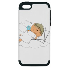 Sweet Dreams Angel Baby Cartoon Apple Iphone 5 Hardshell Case (pc+silicone) by Nexatart