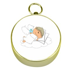 Sweet Dreams Angel Baby Cartoon Gold Compasses by Nexatart