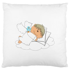 Sweet Dreams Angel Baby Cartoon Large Flano Cushion Case (one Side) by Nexatart