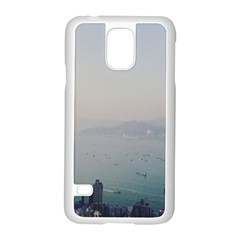 Hong Kong View Samsung Galaxy S5 Case (White) by ansteybeta