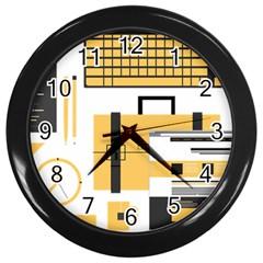 Web Design Mockup Web Developer Wall Clocks (black) by Nexatart