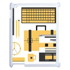 Web Design Mockup Web Developer Apple Ipad 2 Case (white) by Nexatart