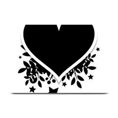 Silhouette Heart Black Design Plate Mats