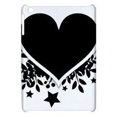 Silhouette Heart Black Design Apple Ipad Mini Hardshell Case by Nexatart