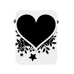 Silhouette Heart Black Design Apple Ipad 2/3/4 Protective Soft Cases by Nexatart