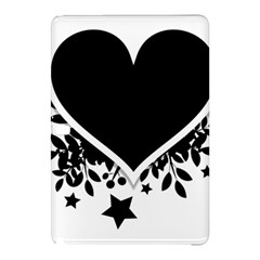 Silhouette Heart Black Design Samsung Galaxy Tab Pro 12 2 Hardshell Case by Nexatart