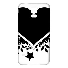 Silhouette Heart Black Design Samsung Galaxy S5 Back Case (white) by Nexatart