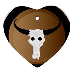 Logo The Cow Animals Heart Ornament (two Sides) by Nexatart