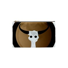 Logo The Cow Animals Cosmetic Bag (small)  by Nexatart