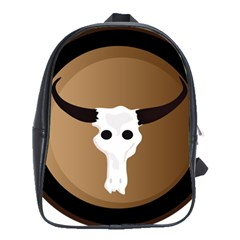 Logo The Cow Animals School Bags(large)  by Nexatart