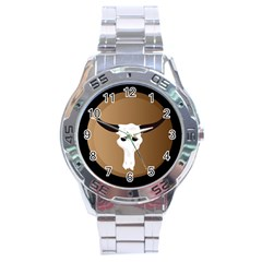 Logo The Cow Animals Stainless Steel Analogue Watch by Nexatart