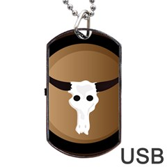 Logo The Cow Animals Dog Tag Usb Flash (one Side) by Nexatart