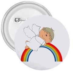 Angel Rainbow Cute Cartoon Angelic 3  Buttons by Nexatart