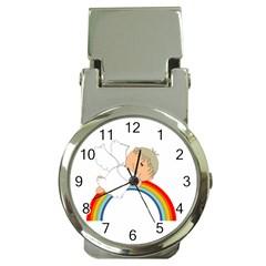 Angel Rainbow Cute Cartoon Angelic Money Clip Watches by Nexatart