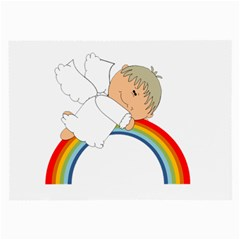 Angel Rainbow Cute Cartoon Angelic Large Glasses Cloth by Nexatart