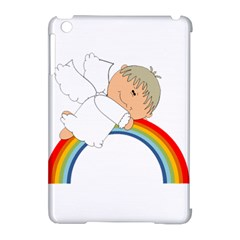 Angel Rainbow Cute Cartoon Angelic Apple Ipad Mini Hardshell Case (compatible With Smart Cover) by Nexatart