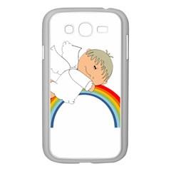 Angel Rainbow Cute Cartoon Angelic Samsung Galaxy Grand Duos I9082 Case (white) by Nexatart