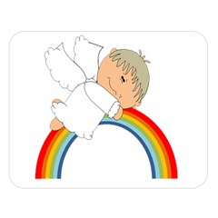 Angel Rainbow Cute Cartoon Angelic Double Sided Flano Blanket (large)  by Nexatart