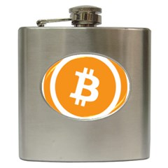 Bitcoin Cryptocurrency Currency Hip Flask (6 Oz) by Nexatart
