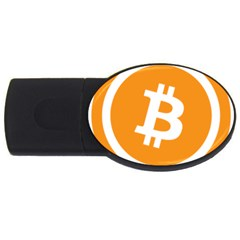 Bitcoin Cryptocurrency Currency Usb Flash Drive Oval (4 Gb) by Nexatart