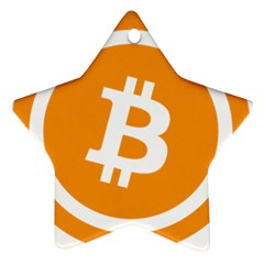 Bitcoin Cryptocurrency Currency Star Ornament (two Sides) by Nexatart