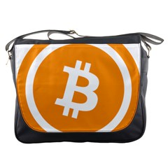 Bitcoin Cryptocurrency Currency Messenger Bags by Nexatart