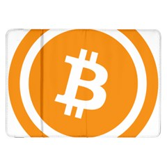 Bitcoin Cryptocurrency Currency Samsung Galaxy Tab 8 9  P7300 Flip Case by Nexatart