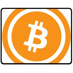 Bitcoin Cryptocurrency Currency Double Sided Fleece Blanket (medium)  by Nexatart