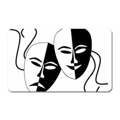 Theatermasken Masks Theater Happy Magnet (rectangular)