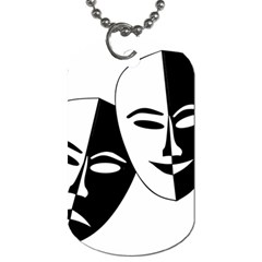 Theatermasken Masks Theater Happy Dog Tag (two Sides) by Nexatart