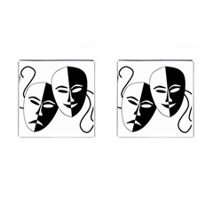 Theatermasken Masks Theater Happy Cufflinks (square) by Nexatart
