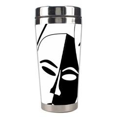 Theatermasken Masks Theater Happy Stainless Steel Travel Tumblers by Nexatart