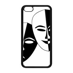 Theatermasken Masks Theater Happy Apple Iphone 5c Seamless Case (black) by Nexatart