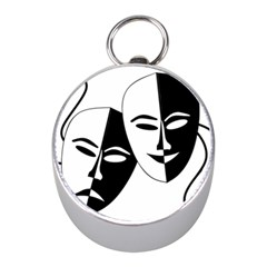 Theatermasken Masks Theater Happy Mini Silver Compasses by Nexatart