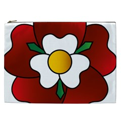 Flower Rose Glass Church Window Cosmetic Bag (xxl)  by Nexatart