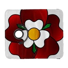 Flower Rose Glass Church Window Galaxy S3 (flip/folio) by Nexatart