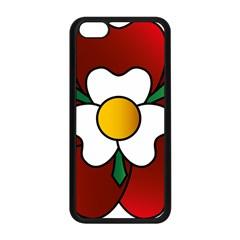 Flower Rose Glass Church Window Apple Iphone 5c Seamless Case (black) by Nexatart