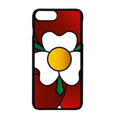 Flower Rose Glass Church Window Apple Iphone 7 Plus Seamless Case (black) by Nexatart