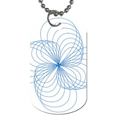 Blue Spirograph Pattern Drawing Design Dog Tag (two Sides) by Nexatart
