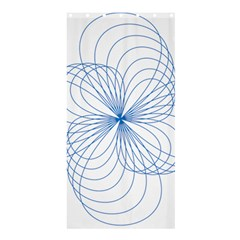 Blue Spirograph Pattern Drawing Design Shower Curtain 36  X 72  (stall)  by Nexatart