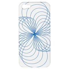Blue Spirograph Pattern Drawing Design Apple Iphone 5 Hardshell Case by Nexatart