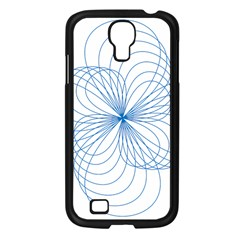 Blue Spirograph Pattern Drawing Design Samsung Galaxy S4 I9500/ I9505 Case (black) by Nexatart