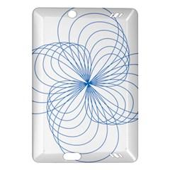 Blue Spirograph Pattern Drawing Design Amazon Kindle Fire Hd (2013) Hardshell Case by Nexatart