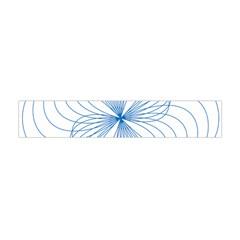 Blue Spirograph Pattern Drawing Design Flano Scarf (mini) by Nexatart